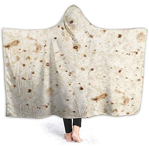 Groefod Decke mit Kapuze Tortilla Gear Tortilla Shirt Burrito Blanket Superweiche Sherpa Fleecedecke für Kinder