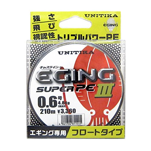 ユニチカ(UNITIKA) 『キャスライン エギングスーパーPEIII 210m 0.6号』