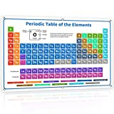 Bigtime Signs 2020 XL Large Jumbo 54' White Periodic Table of Elements Vinyl Poster 2020 Version Banner - Science Chemistry Chart for Teachers, Students, Classroom - Newest 118 Elements