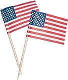 300 x Deko Picker USA Fahne Partypicker 6,5 cm Käse Party Spieße Stars&Stripes