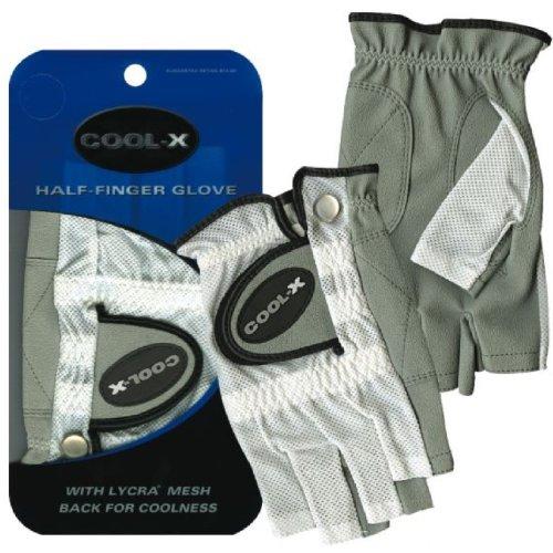 Merchants of Golf Women's Cool X Half Finger Gloves, Left Hand, Large