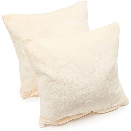 100/% Leinen Kissenbezug 80x80 cm Creme-Weiß Kopfkissenbezug Neu