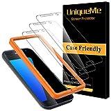 [3 Pack]UniqueMe Protector de Pantalla para Samsung Galaxy S7, Vidrio Templado [ 9H Dureza ] [Sin Burbujas] HD Film Cristal Templado para Samsung Galaxy S7