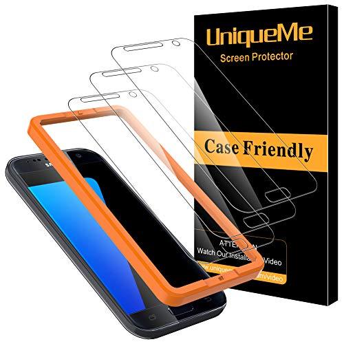 [3Pack] UniqueMe Schutzfolie für Samsung Galaxy S7 Panzerglas, Samsung Galaxy S7 Folie, HD klar gehärtetes Glas Displayschutz