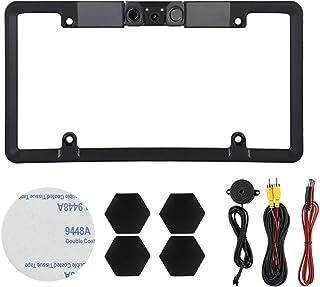 3 em 1 2 LEDs placa de carro sensor de estacionamento radar retrovisor ré câmera de reserva