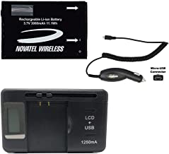 Novatel Wireless MiFi 4620L 4G LTE Battery in Non- Retail Packaging Micro Car Charger Universal Battery Charger Included
