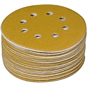 "POWERTEC 44032G-50 Gold 5"" Hook and Loop Sanding Disc 
