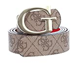Guess Alby Reversible Pant Belt W95 Brown/Cherry