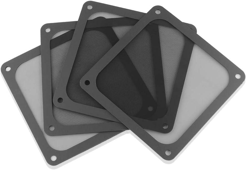 BRIEFCEC Protección magnética contra el polvo de 80 mallas con imán débil, ventilador de refrigeración, protección contra el polvo, carcasa magnética con cubierta de red (120 x 120 mm, 4pcs, negro)