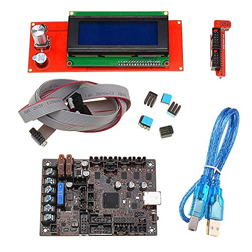 Printer Accessories 2004 LCD Display+Einsy Rambo 1a Mainboard for Prusa i3 MK3 with 4 Trinamic TMC2130 Control 4 Mosfet Switched Outputs 3D Printer Part