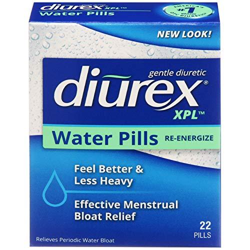 Diurex XPL Re-energizing Water Pills - Relieve Bloating & Fatigue - 22 Count