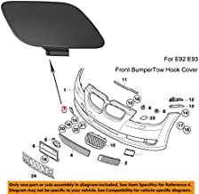 YUK for BMW E92 E93 3-Series 2006-2009 328i 335i Bumper Tow Hook Eye Covers (Front)