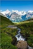 Poster 20 x 30 cm: Bergpanorama mit Schreckhorn und