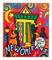 ニューオーリンズ ジャズフェスト カラフルな音楽のお土産 冷蔵庫マグネット