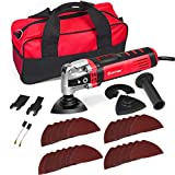 <span class='highlight'><span class='highlight'>GYMAX</span></span> 400W Oscillating Tool with 6 Variable Speed, 4.5°Oscillating Multi-Tool, 30-Piece Accessories Multi Tool Kit, Carry Bag and Auxiliary Handle Included