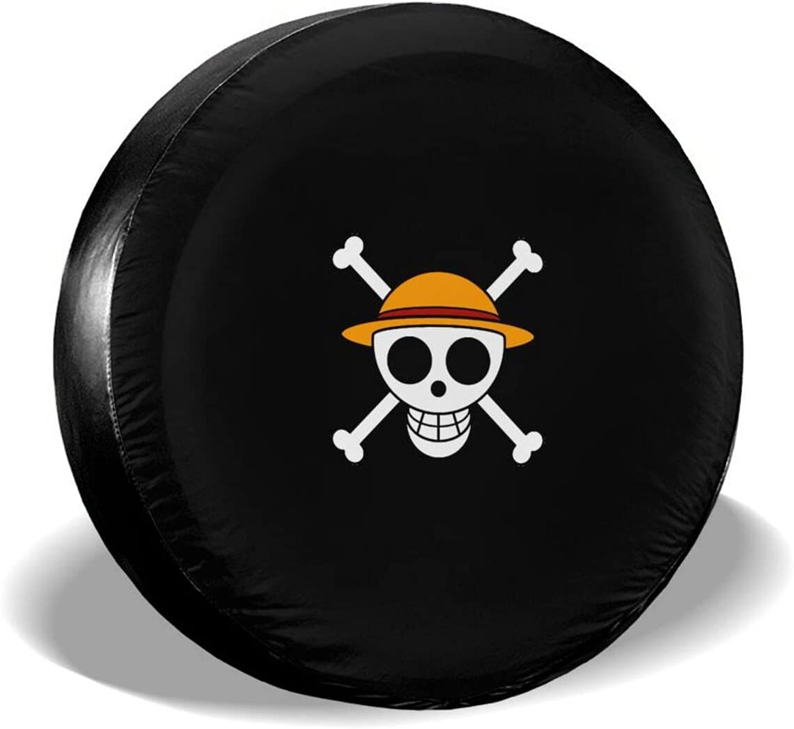 sold out Anime Straw Hat Pirates Spare Tire Cover Fit Universal Over item handling Jeep for