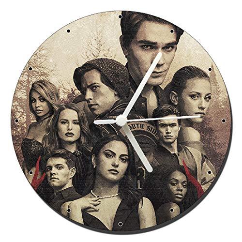 MasTazas Riverdale Lili Reinhart Cole Sprouse Camila Mendes Wanduhren Wall Clock 20cm