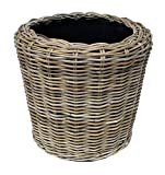van der Leeden rdvspgry39Geflecht Dry Topf Vase Übertopf,Beige