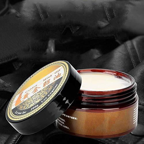 SALUTUYA 100G, Crema de Aceite de visón Artesanal de Cuero, Preserve Botas y Zapatos de Cuero, Accesorio de artesanía de Cuero