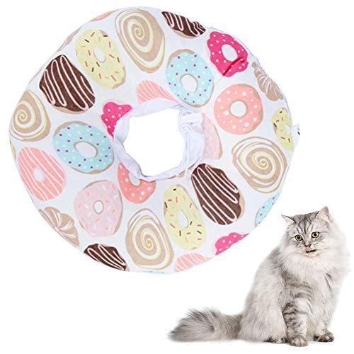 CHEPL Recuperación Collar Collar Anti-mordedura Collar de protección para Mascotas para Gatos, de Mascota Collar Cono Protector Collares de Suave Ajustable Collar (S, Rosado)