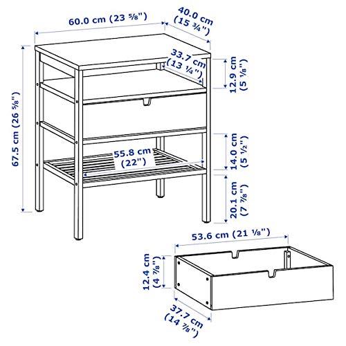 BestOnlineDeals01 Nachttisch NORDKISA Bambus 60x40 cm robust & leicht zu pflegen Beistelltisch Kaffee- und Beistelltische Tische & Schreibtische. Möbel Umweltfre&lich.