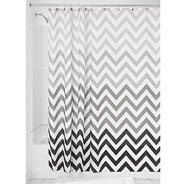 InterDesign Ombre Chevron Shower Curtain, Gray/Multicolor, 72 Inch X 72 Inch