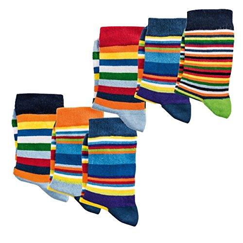 kinder Socken,6Pack,35/38,Ringel