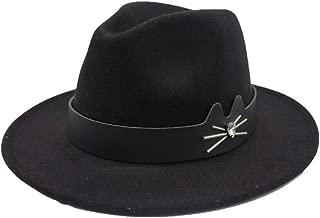 Hat Size 56-58CM Unisex Men Women Wool Fedora Hat With Leather Belt Autumn Trilby Hat Church Jazz Hat Fashion Hat