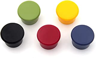 KLOUD City Pack of 5 Candy Colors Food Graded Durable Silicone Wine Beer Beverage Glass Bottle Caps Stoppers Sealer Cover