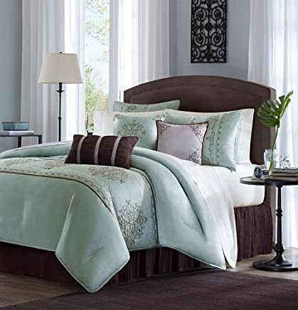featured product Madison Park Brussel 7 Piece Comforter Set Seafoam King