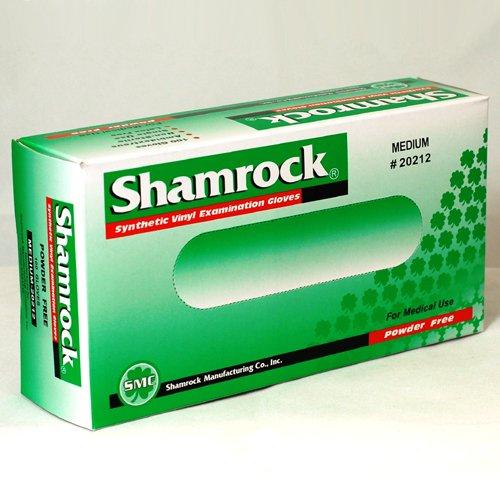 Shamrock 20213 Powder Free Vinyl Gloves , Box, Glove, Large Width 105 +/- 10 mm