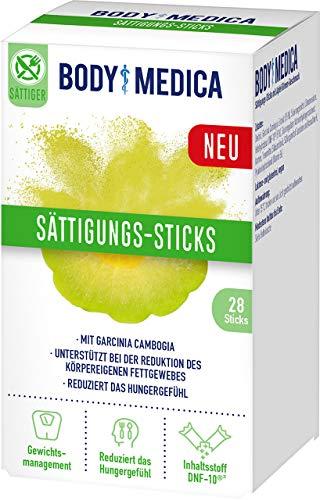 BodyMedica Sättigungs-Sticks, Nahrungsergänzungsmittel mit Garcinia Cambogia, unterstützt bei Gewichtsmanagement und mindert das Hungergefühl für eine reduzierte Kalorienzufuhr, 1 x 28 Sticks (140g)
