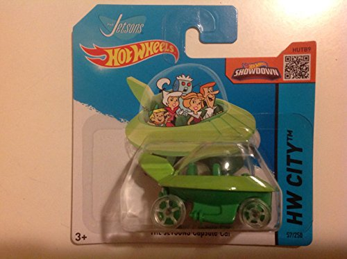 Hot Wheels Short Card HW City The Jetsons Capsule Car Light Green/Green #57/250 by Mattel