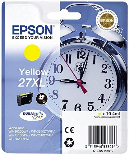 Epson C13T27144022 - 27XL - Größe XL - Gelb - Original - Blister mit RF-Alarm - Tintenpatrone - für WorkForce WF-3620DWF, WF-3640DTWF, WF-7110DTW, WF-7610DWF, WF-7620, WF-7620DTWF