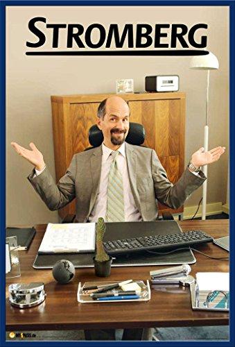 Stromberg - Schreibtisch - Christoph Maria Herbst Comedy TV Serie Poster Plakat - Grösse cm + Wechselrahmen, Shinsuke® Maxi Kunststoff blau, Acryl-Scheibe