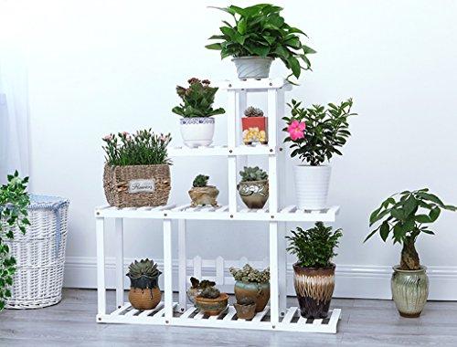 Présentoir à motifs multicouches à étagères en bois multicolore étagère à bois salon de fleurs salon de jardin intérieur ( Couleur : Blanc )
