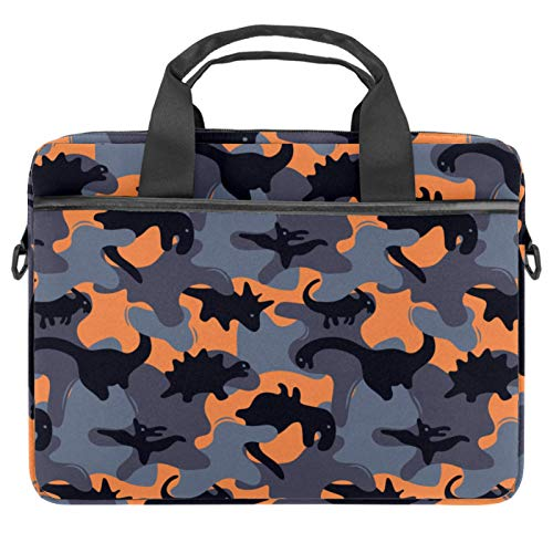 Laptop Bag Dinosaur Camo Military Notebook Sleeve with Handle 13.4-14.5 inches Carrying Shoulder Bag Briefcase