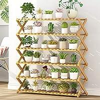 林6層バルコニーリビングルーム折りたたみ式純木の花スタンド鉢植え植木棚、長さ:100 cm WXW