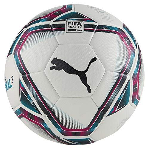 PUMA 83304 Unisex– Erwachsene teamFINAL 21.2 FIFA Quality Pr Fußball, White-Rose Red-Ocean Depths Black-Omphalodes, 5