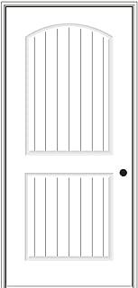 National Door Company ZZ364250L Solid Core, Primed, Molded Planked 2-Panel, Left Hand, Prehung Interior Door, 30