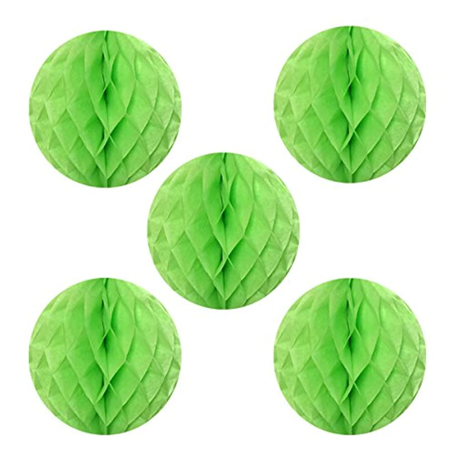 Allydrew Hanging Party Decoration, 6 Inch Tissue Honeycomb Ball for Weddings, Birthday Parties, Baby Showers, and Nursery Décor (5 pack), Light Green