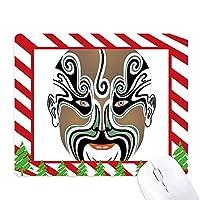 北京オペラのマスクのカラフルなwangwujiang ゴムクリスマスキャンディマウスパッド