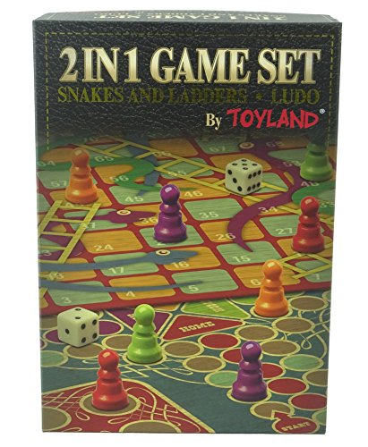 Toyland® 2 in 1 Familie Bordspelset - Slangen en Ladders en Ludo - Traditionele Bordspellen