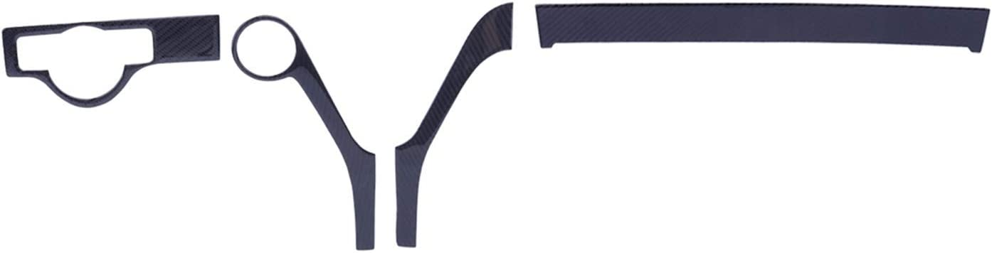 Anteprima Carbon Fiber Fort Worth Mall Max 80% OFF Black 4Pcs Dashboard Interior C Panel LHD