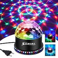 ✔ 【51 RGB LED】: Diese Discokugel adoptierte 51pcs hohe Leistung RGB LED, super helles, 48pcs auf der Unterseite und 3 in der Mitte, 2 Beleuchtungmodi: Selbstmodus oder Tonmodus, wenn dort Musik oder Stimme, Effekt automatisch zu ändert Rhythmus der M...