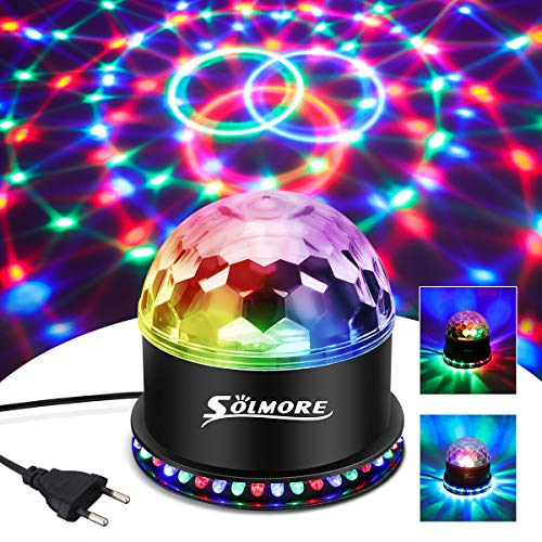 LED Discokugel,SOLMORE 51LEDs 12W Discolampe Partyleuchte RGB Lichteffekt Bühnenbeleuchtung Party Licht Weihnachten Deko