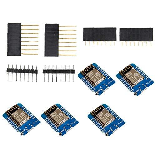 Junta de Desarrollo ESP8266 Internet Inalámbrico Mini Escudo D1 portátil para la programación de 5PCS Industrial Componentes de control