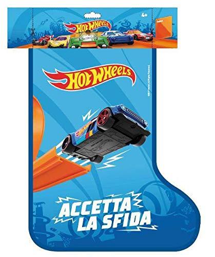 Mattel- Calza Befana Hot Wheels, FWM98