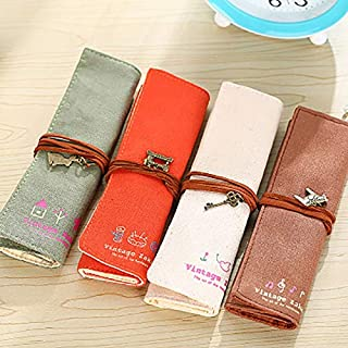 Pencil Bags - 1Pcs Kawaii Retro pencil case Holder Pen Brushes Makeup pencil case bag Stationery for School office & schoo...