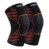 Hykes Knee Cap Compression Support for Gym Running Cycling Sports Jogging Workout Pain